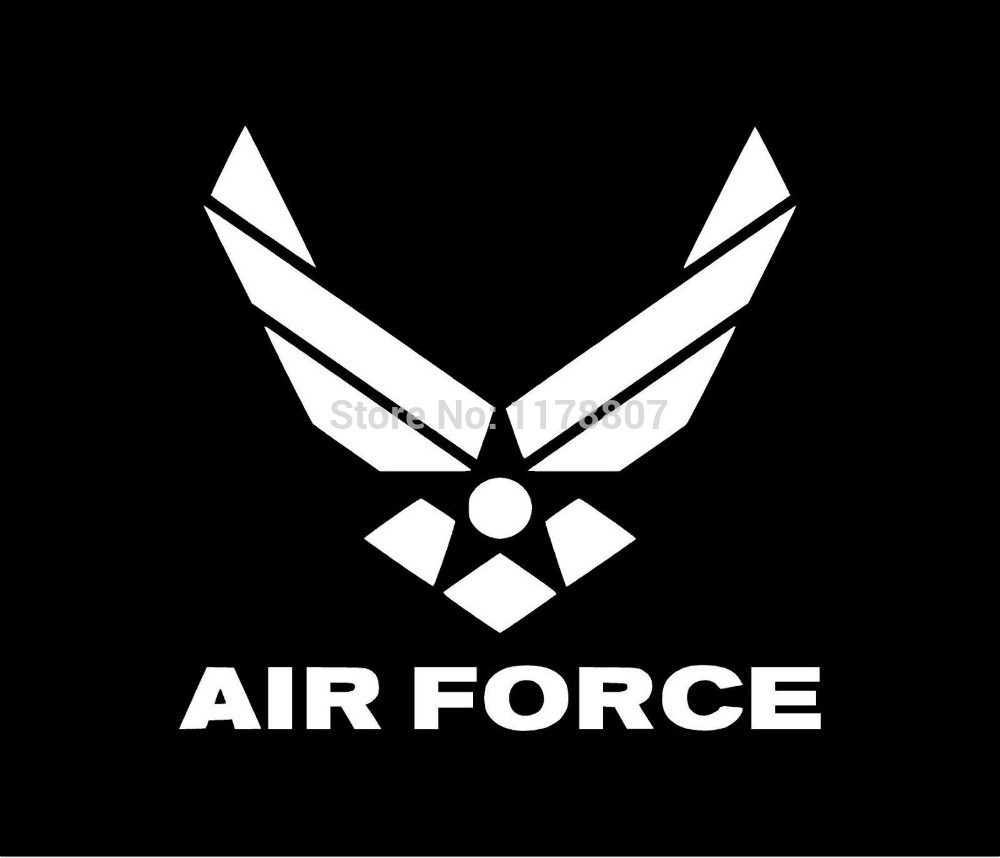Hotmeini13x13cm us air force logo vinyl decal car window sticker funny jdm boat motorbike bumper and all the smooth surface
