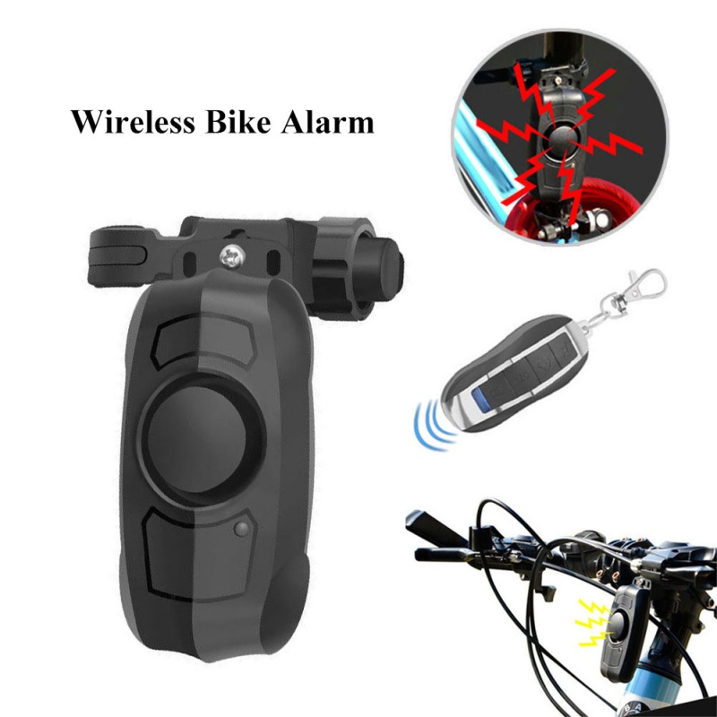 113dB Wireless Anti-Theft Vibration Motorcycle Bicycle Security Bike Alarm With Remote Control Waterproof