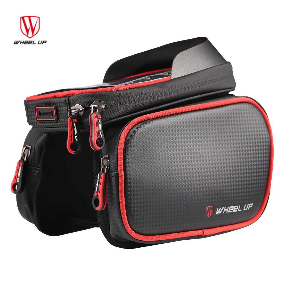 New 5.7inch Bicycle Phone Bag for Cycling MTB Tube Frame Waterproof Storage Bag