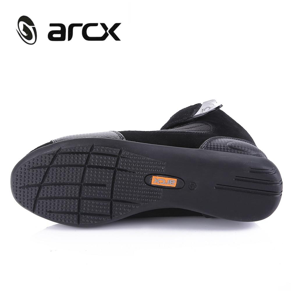 ARCX Moto bottes hommes Moto bottes d'équitation été respirant Moto chaussures Moto Chopper Cruiser Touring cheville chaussures # - 3