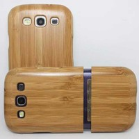 High Quality For Samsung Galaxy S3 Case Pattern Pattern Wood Phone CaseWooden Hard Shell Cove0r For