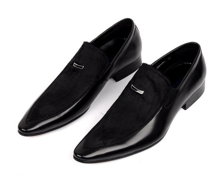 Große Größe EUR45 Schwarz Herren Wildleder Kleid Schuhe aus echtem - Herrenschuhe - Foto 2