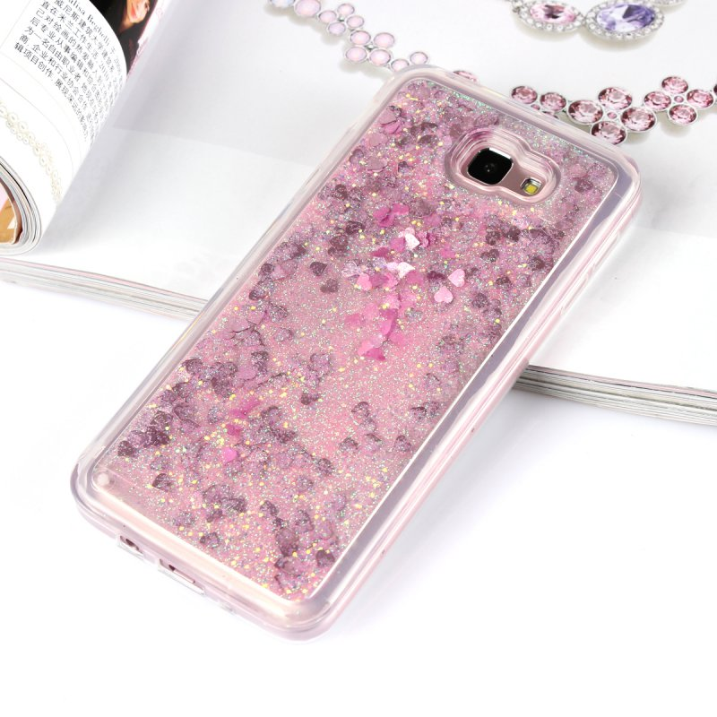 Liquid Case For Samsung Galaxy J7 Prime J7Prime Luxury Glitter Soft  Silicone Back Cover TPU Gel Case Shining Mobile Phone Cases-in Fitted Cases  from ... 73b1c3d43e78