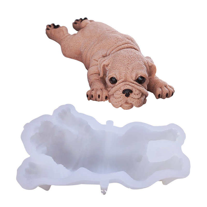 Hot Youtube Silicone Dog Cake Mold Mousse Cake Ice Cream Maker Jelly Pudding Mould Chocolate Candy Handmade Soap Fondant Forms