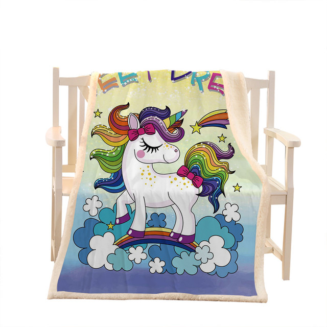 Cute Magical Unicorn Blanket