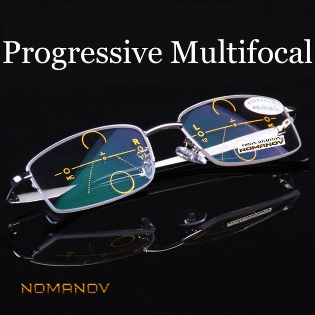 b9e8a0b401e  NOMANOV BRAND  Intelligence Progressive Multifocal Commercial Reading  Glasses Bifocal Three Colors Ultra Light +1 +1.5 +2 TO +4