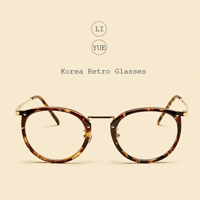 LIYUE Старинные Украшения овальные очки кадр Бренд Дизайнер Очковые простые очки Прозрачные линзы оптических кадров очки По Рецепту