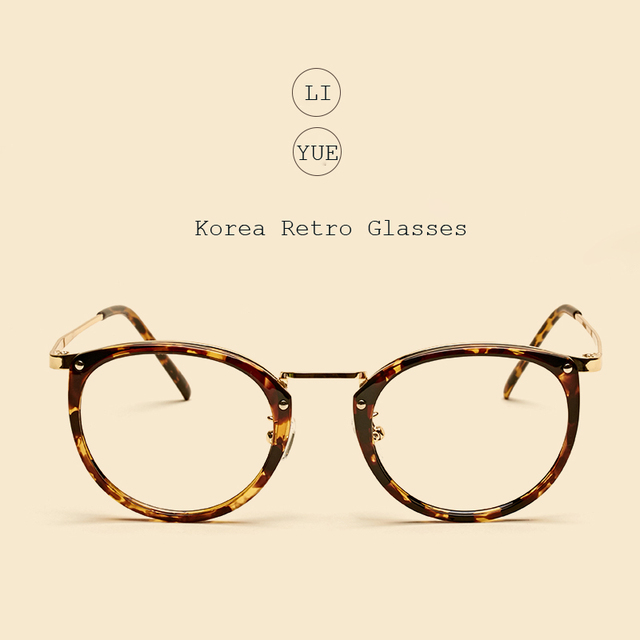 LIYUE Vintage Decoration oval glasses frame Brand Designer Spectacle plain glasses Clear lens optical frame Prescription eyewear