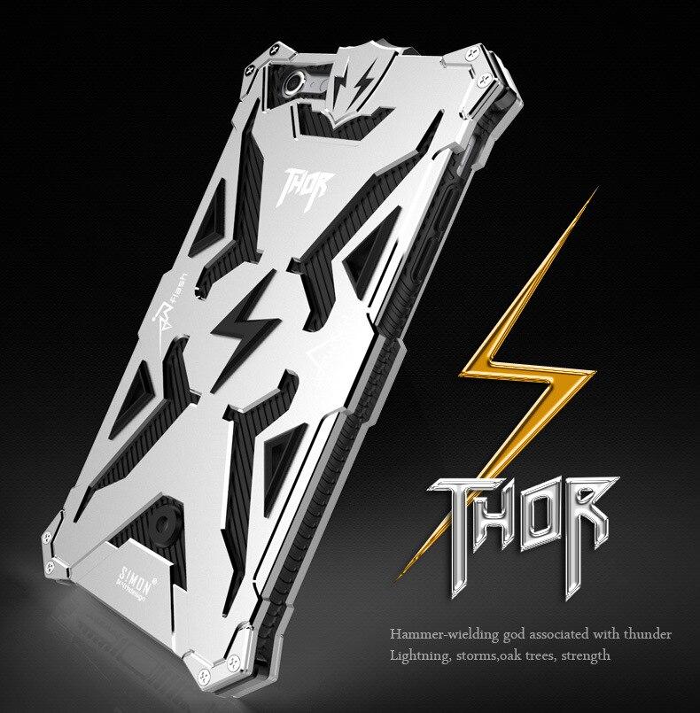imágenes para Original Zimon prueba de Choques Impermeable Tornillo Ironman De Aluminio del Metal para el iphone 6 6 s Cajas Del Teléfono Para el iphone 6 s plus