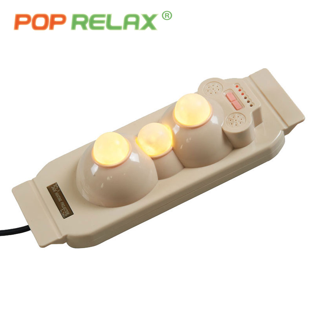 POP RELAX 3 balls jade roller prostate therapy massager handheld body heater infrared heating pain relief rolling massage device pop relax jade roller heating massager 11 balls foldable far infrared body pain relief handheld moxa therapy massage device p11