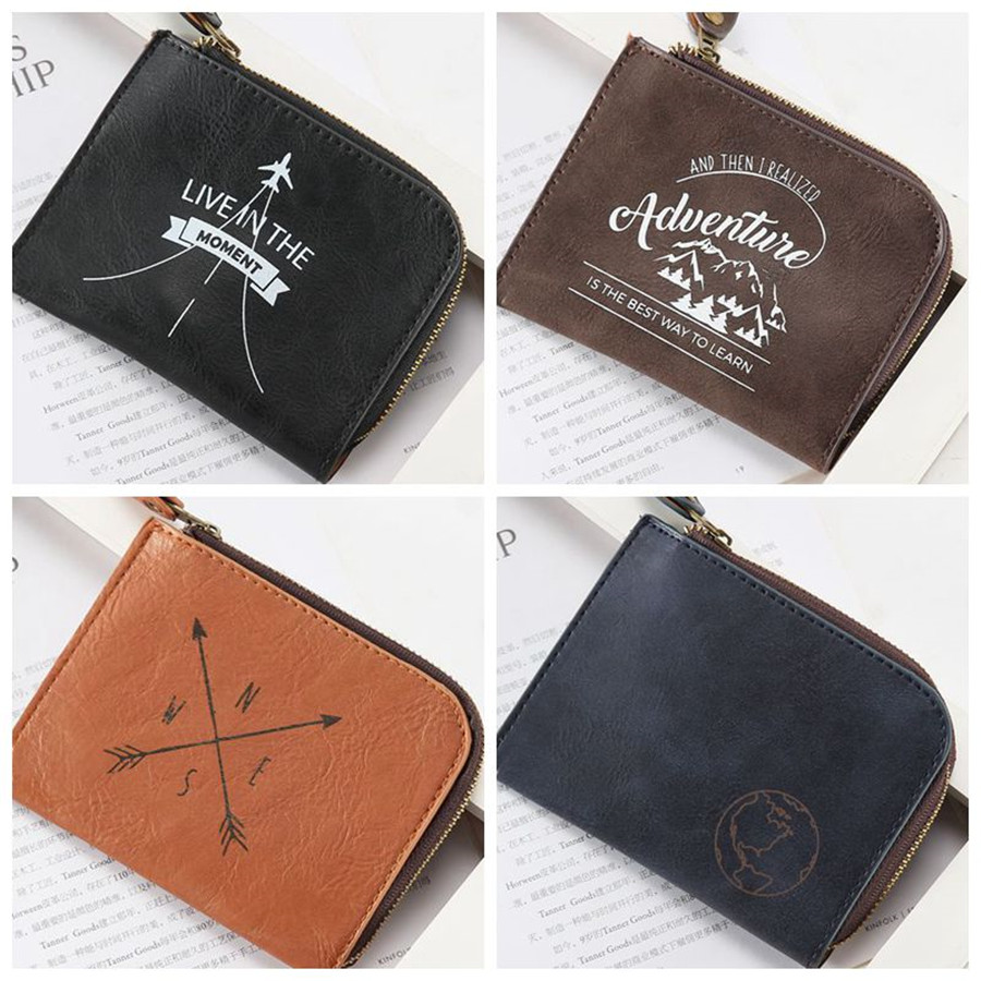 Useful Men Mini Wallet Ladies Zipper Coin Purse Multifunctional Small High Grade Coin Credit Card Key Ring Wallet CP02A