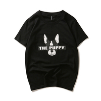 Japanese Street Fashion Men S Summer Casual Harajuku T Shirts The Puppy Dog Print Black White