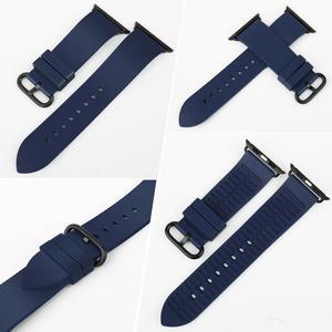 Image 2 - Akcesoria do zegarków seria 5 4 3 2 1 do opaski do zegarka Apple 44mm 42mm i pasek do zegarka Apple 40mm 38mm gumowe paski do zegarków Fluorocarbon