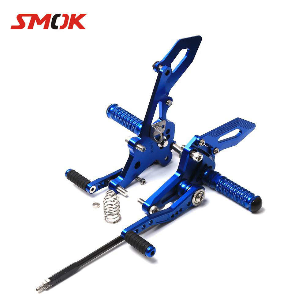 SMOK Motorcycle CNC Aluminum Alloy Adjustable Rearsets Footrest Foot Rests For Yamaha MT 07 FZ-07 MT07 MT-07 FZ07 2014-2017