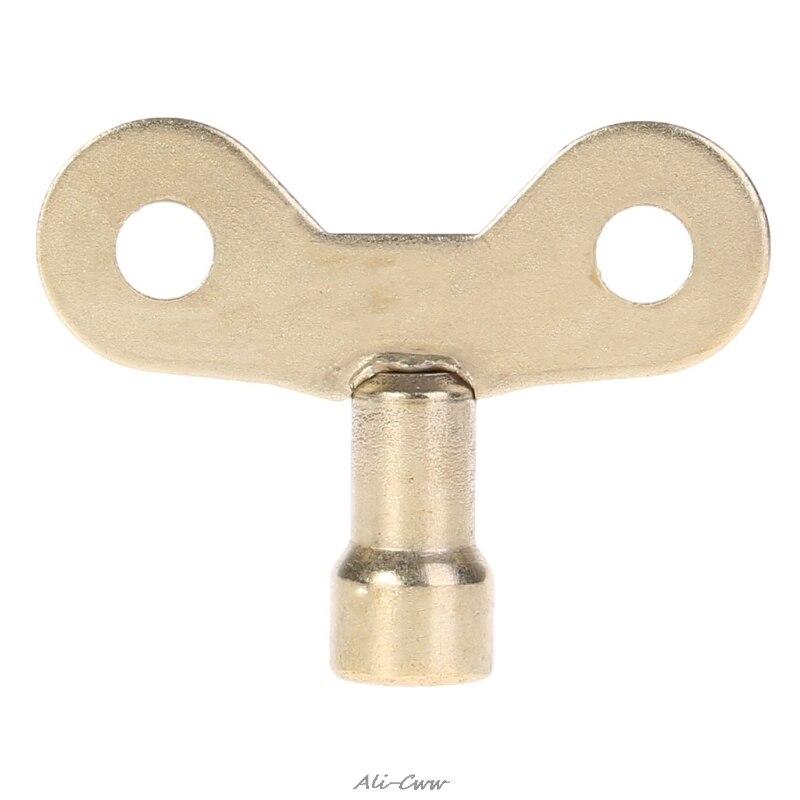 1 Pc Radiator Keys Plumbing Bleeding Key Solid Water Tap For Air Valve Plumbing Tool Golden Water Tap Key
