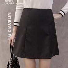 2019 Women Fashion Solid High Waist Skirt Plaid Female Casual Split A-Line Skirts Harajuku Summer Mini Korean