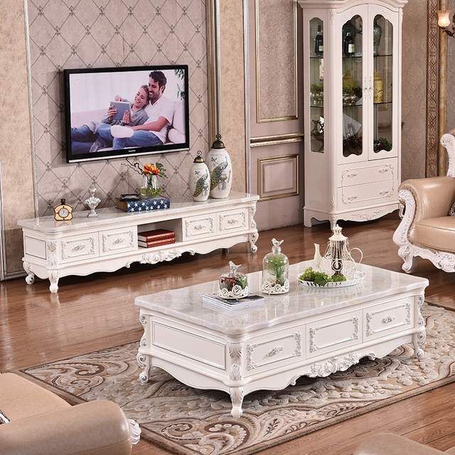 Aliexpress  Buy European style coffee table marble TV cabinet