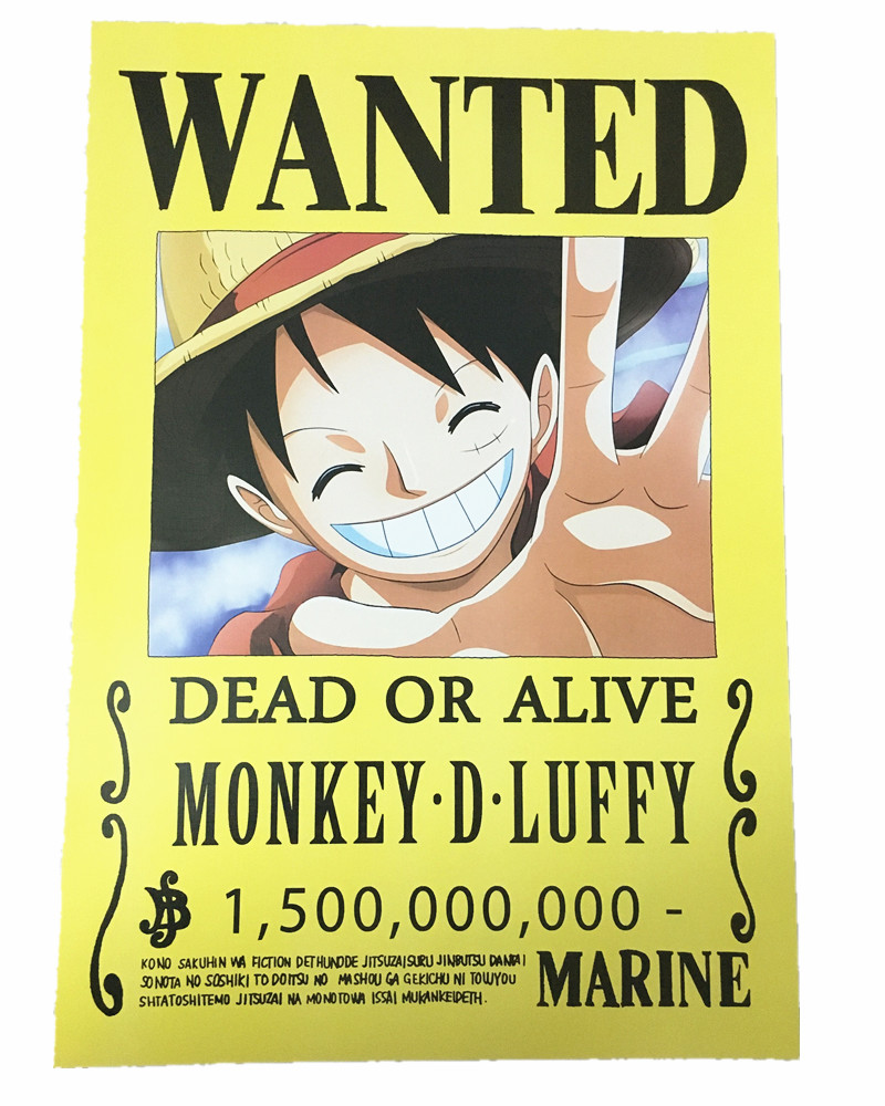 Luffy Wanted Posters
