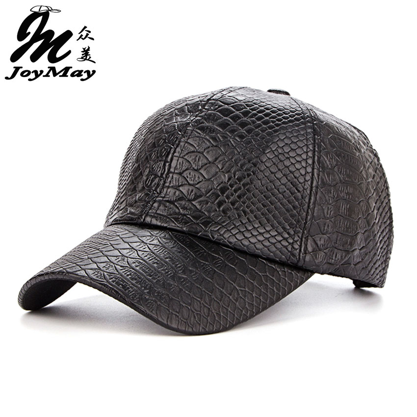 Joymay 2016 Hot fashion   Baseball     Cap   women fall faux Leather   cap   hip hop snapback Hats For men winter hat for women B360