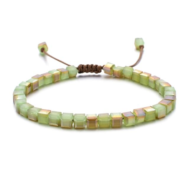 ZMZY Woman Bracelet Wristband Glass Crystal Bracelets Gifts Jewelry Accessories Handmade Wristlet Trinket 4