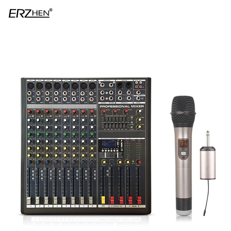 Audio-mischpult W9000t8c Professionelle Mischer Audio-verstärker Sound Processor 8 Kanal Zur Verbesserung Der Durchblutung Tragbares Audio & Video Unterhaltungselektronik