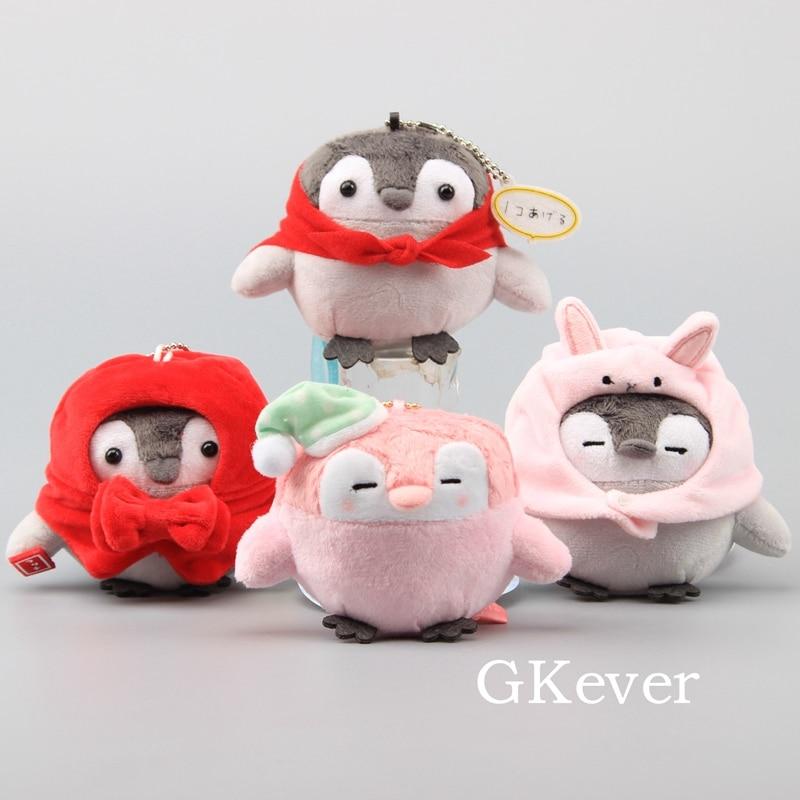 Plush Keychain Positive Kawaii Dolls Mobile-Phone-Pendant Penguin Soft Cute Mini 50pcs/Lot
