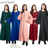 Maxi Robe 2017 Robe Musulmane Adulte Femmes Robe Photos Abaya Turksh Caftan Mode Nouvelle Longue À Manches Chaude Caractéristique Arabla Robes