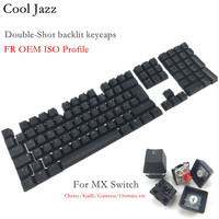Cool Jazz 108 Keys Thick PBT Double shot backlit Keycap FR ISO layout OEM Profile For MX Mechanical gaming Keyboard