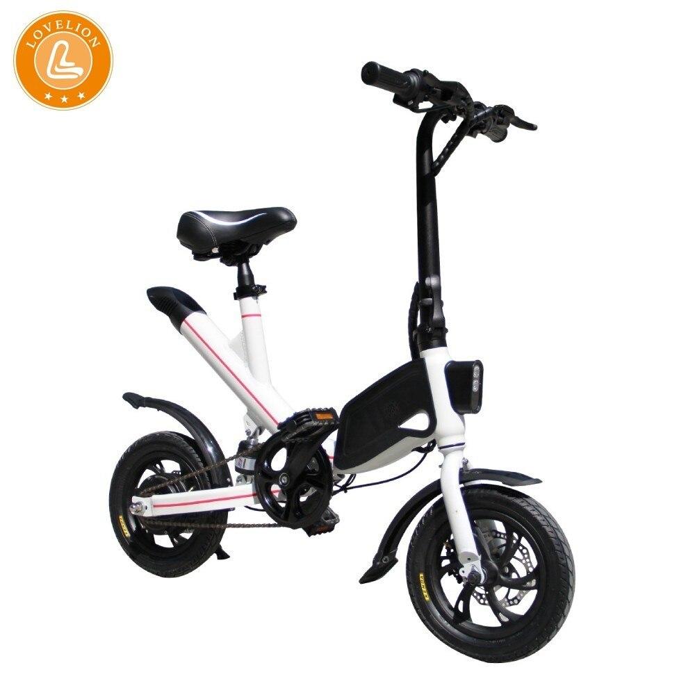LOVELION china Erwachsene Tragbare falten Mini elektrische fahrrad Fahren Fahrrad bequem Kleine-skala Weibliche ebike Schwarz Batterie bikes