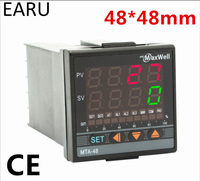 Digital Temperature Controller Control 48*48mm AC85 265V Power Thermocouple Universial K J PT100 Input SSR Relay 4 20mA Output