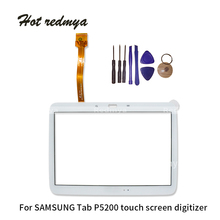 Touch Screen Digitizer Sensor Front Outer Glass Lens Panel For Samsung Galaxy Tab 3 10.1 GT-P5210 P5200 P5210 with Tools black touch screen digitizer glass lens for samsung galaxy s4 active mini gt i8580 replacement repair part with tools