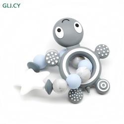Новый стиль! Силиконовые Силиконовый грызунок браслет * Силиконовые Бусины черепаха для прорезывания зубов, Еда Класс силиконовый