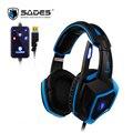 SADES LUNA Virtual 7.1 Surround Sound Gaming Headset USB Headphones In-line Remote Gamer