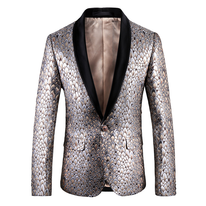New wedding mens one button suit popular new flower small suit youth trend will be busin ...