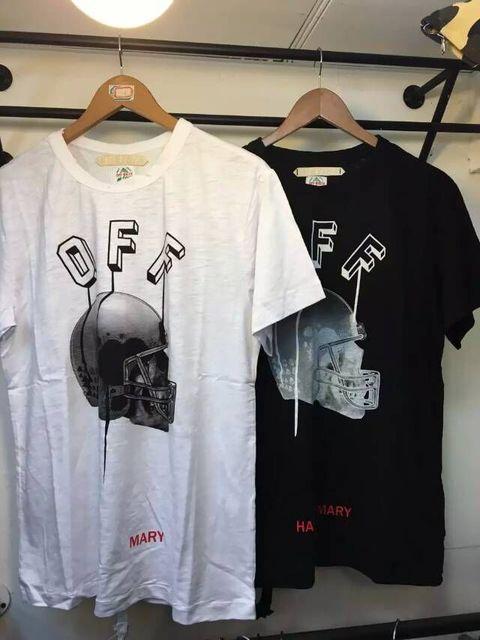 65dd3ccfbd 2016ss men brand off white VIRGIL ABLOH T shirt tee print religion painting  CARAVAGGIO 13 stripe cotton hiphop casual t shirt