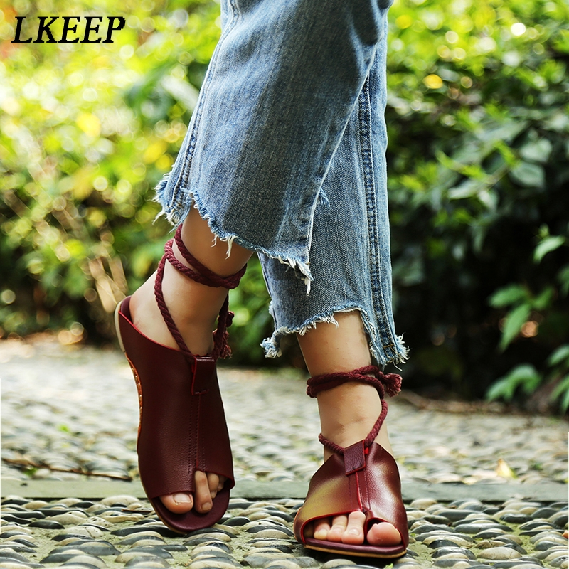где купить Zapatos Mujer Summer Sandals Women Flats Ladies Shoes Woman Ankle Strap Lace Up Flip Flop 2018 New Party Wedding Shoes Femme по лучшей цене