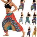 Женские повседневные свободные брюки для йоги, мешковатые, Boho Aladdin, комбинезон, шаровары, бесшовные леггинсы, штаны, Ropa Deporte Mujer