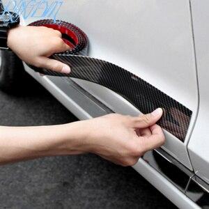 Image 5 - Pegatinas de fibra de carbono para coche Protector de goma estiloso para alféizar de puerta, productos para Nissan qashqai J11 J10 juke tiida note, accesorios para automóvil