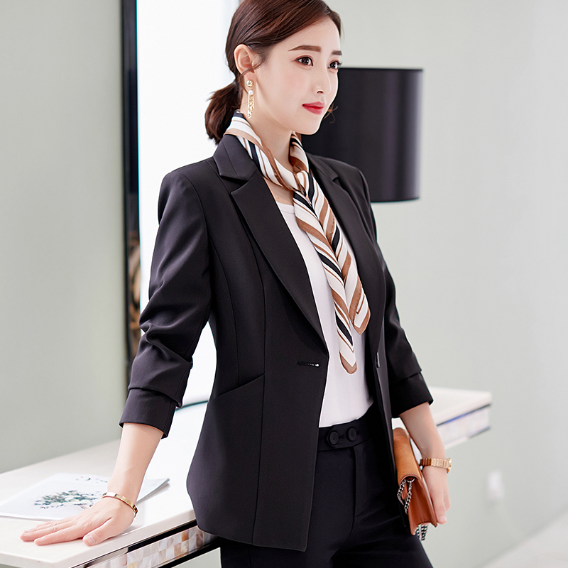 Back To Search Resultswomen's Clothing Blazers Spring Autumn Fall Black Blue Uniform Styles Formal Blazers Suit Women Jackets Coat Office Ladies Work Wear Tops Clothes Blaser Soft And Light