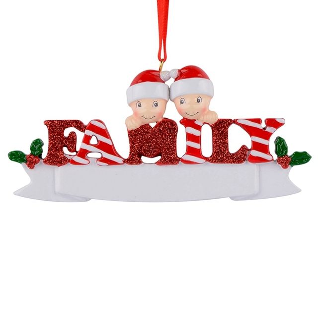 Resin Reindeer Family Sled Family Of 5 Christmas Ornaments ...