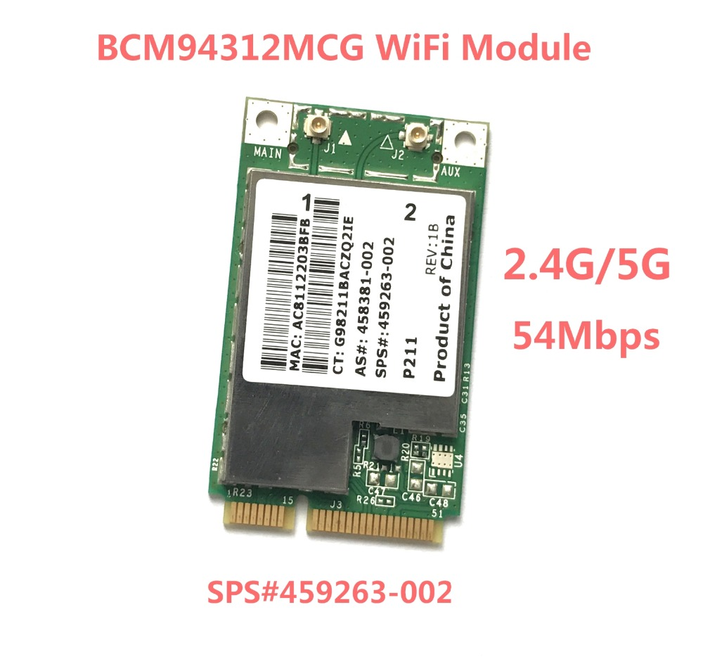 BCM4312 BCM94312MCG MINI PCI-E WIFI Wireless Card For HP Dv4 Dv5 Dv7 CQ45 CQ40 6730b 2530 SPS 459263-002