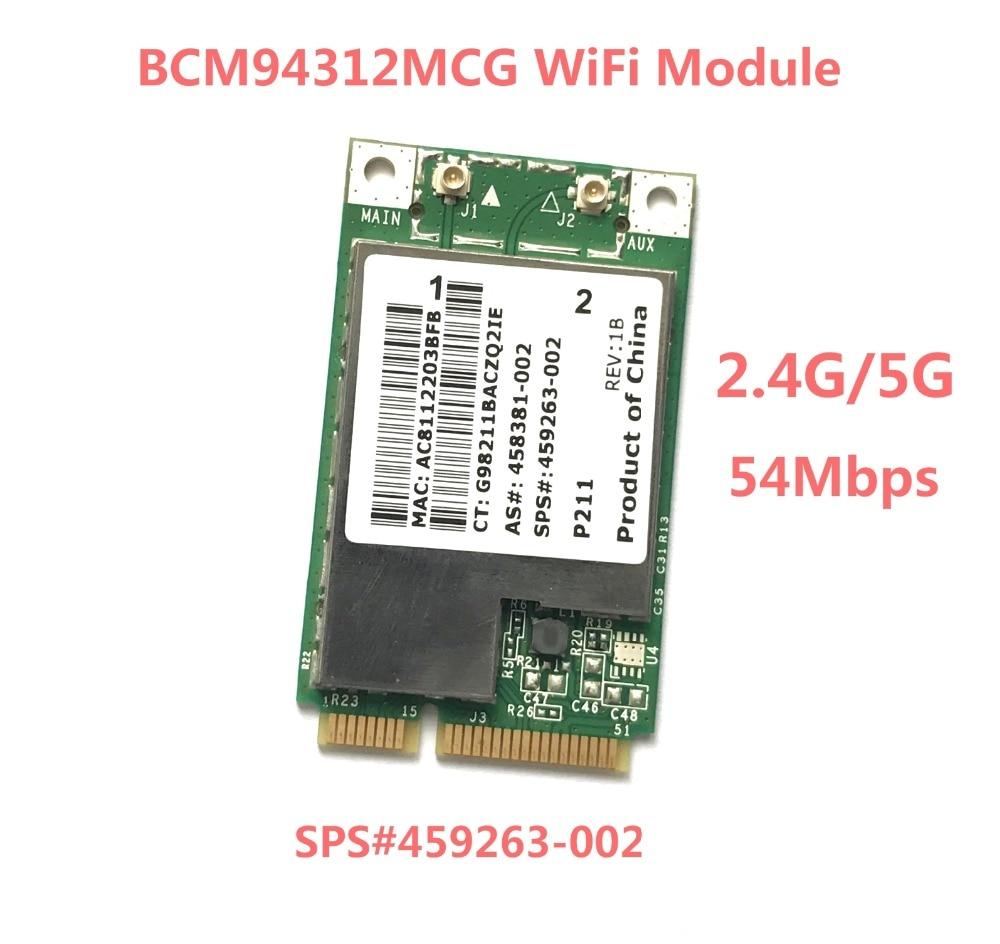 BCM4312 BCM94312MCG MINI PCI-E WIFI Wireless Card for HP dv4 dv5 dv7 CQ45 CQ40 6730b 2530 SPS 459263-002(China)