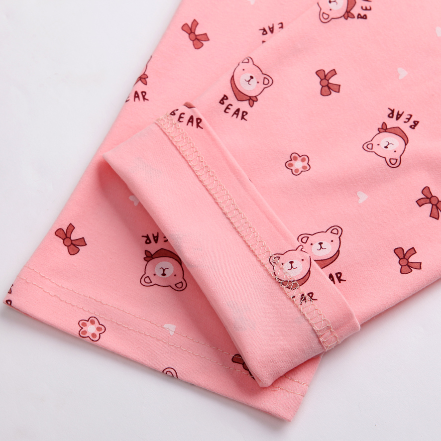 Women's pajama pants female trousers autumn and winter knitted cotton cartoon thick cotton lounge pants loose plus size spring 1