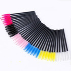 50 pcs Colored Disposable Eyelash Mascara Wands Brushes Eyebrow Comb Brush Semi Permanent Makeup Accessories