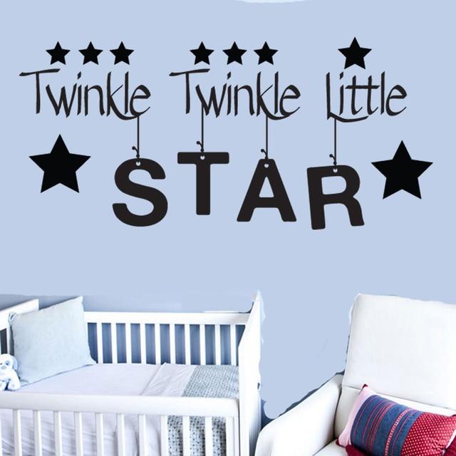Индивидуальная виниловая настенная аппликация с изображением маленькой звезды для мальчиков и девочек, детская спальня, детская комната, настенная наклейка, обои 57