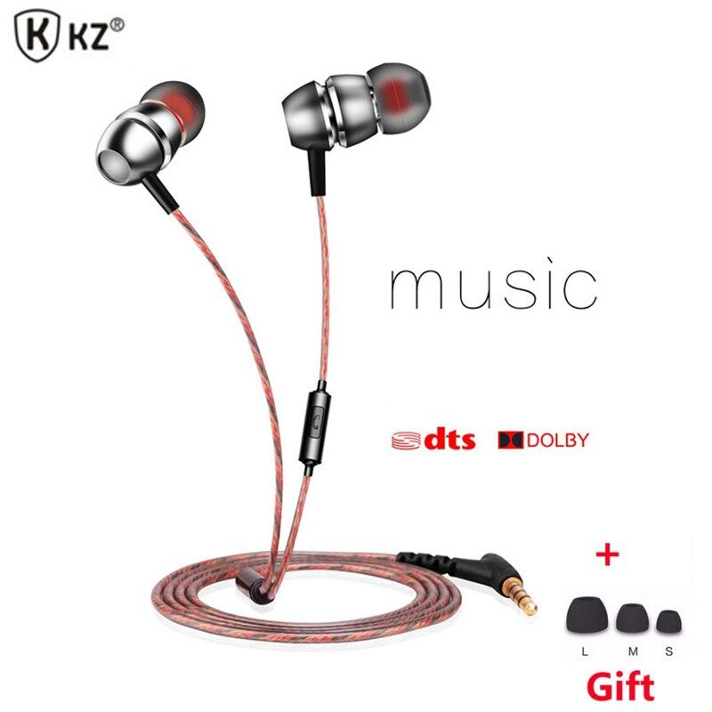 D'origine KZ X8 Écouteur Équilibrée Oreille Intra-auriculaires Super Bass Music Auriculares Casque pour iPhone 5S pour Xiaomi mi5 Écouteurs Avec Mic