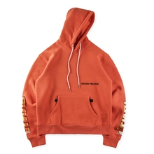 XIERUIS 17FW New Collection Hoodies Men Heron Preston Thicken Men Hoodies Hip-Hop Solid Orange Hoodies Men Streetwear(China)