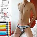 Serie del arco iris Cuerda U convexa hombres ropa interior de algodón de Baja Altura Escritos Multicolor: S8011
