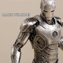 OGRM Crafts The Avengers Iron Man 1:6 MK43 MK45 Model Resin Figure Birthday Gift Sculpture Arts Bronze Iron Color