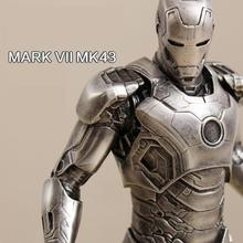 OGRM Crafts The Avengers Iron Man 1:6 MK43 MK45 Model Resin Figure Birthday Gift Sculpture Arts Bronze Iron Color